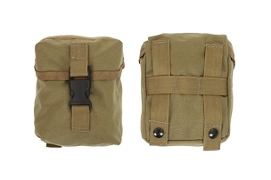 OUTSIDE FRONT POCKET W/FLAP & 1
